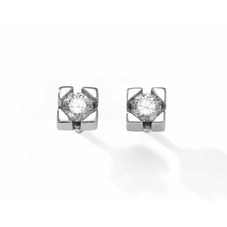 PENDIENTES DIAMANTES 0,30 KT. ORO 750 MM - 242699