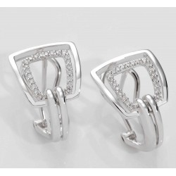 PENDIENTES DIAMANTES 0,17 KT ORO 750 MM. - 242658