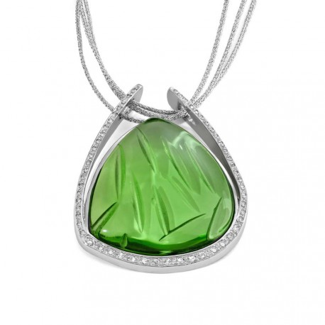 COLGANTE GREEN, PLATA 925 MM. - 750046 GR