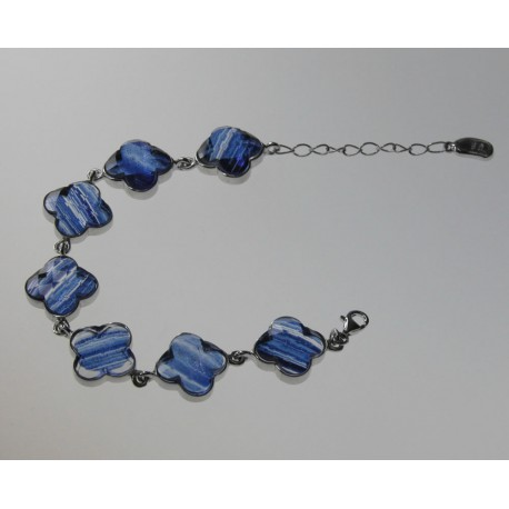 PULSERA ADVENTURINA AZUL, PLATA 925 MM. - 760009