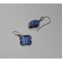 PENDIENTES ADVENTURINA PLATA 925 MM. - 780015