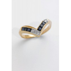 ANILLO DIAMANTES 0,03 KT. ORO 750 MM. - 353047