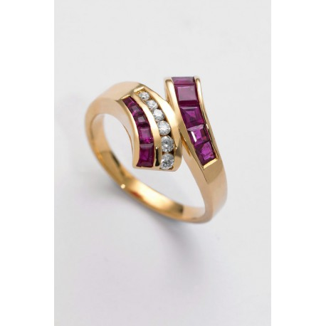 ANILLO DIAMANTES 0,18 KT. ORO 750 MM. - 353173