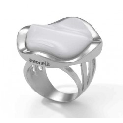 ANILLO ONIX BLANCO, PLATA 925 MM. - 790034