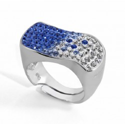 ANILLO DARK BLUE, PLATA 925 MM. - 790069 DB