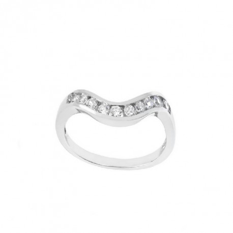 ANILLO ZIRCONITA PLATA 925 MM. - 790092
