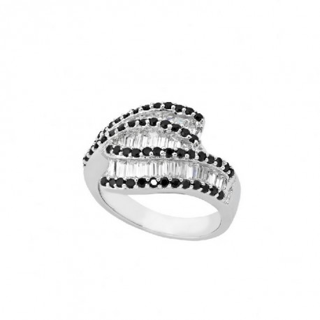 ANILLO ZIRCONITAS W/B PLATA 925 MM. - 790094